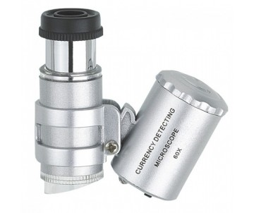 Mini-Mikroskop mit LED-Beleuchtung, Vergrößerung 60-fach